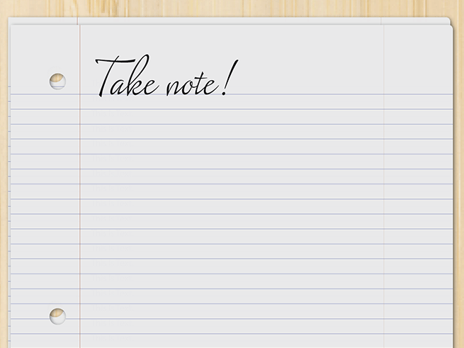 InDesign FX: Notebook paper